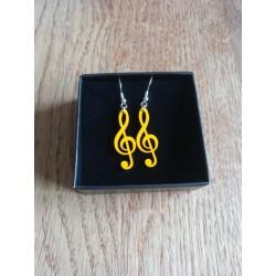 Boucles d'oreilles Clef de sol